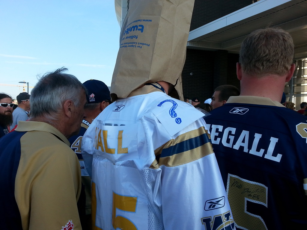 Never buy the Jersey of a Blue Bombers quarterback. It has a two week lifespan.