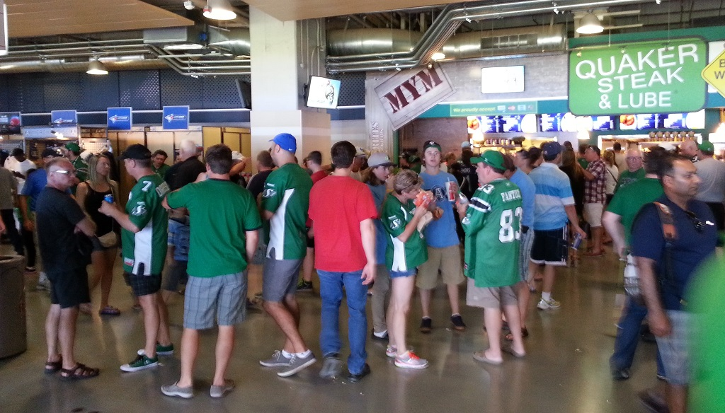 This is a very representative sample of the concourse, I didn't just take this picture because it had a lot of green.