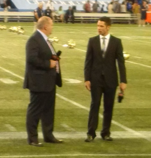 Mike Duffy's new job as a CFL commentator.