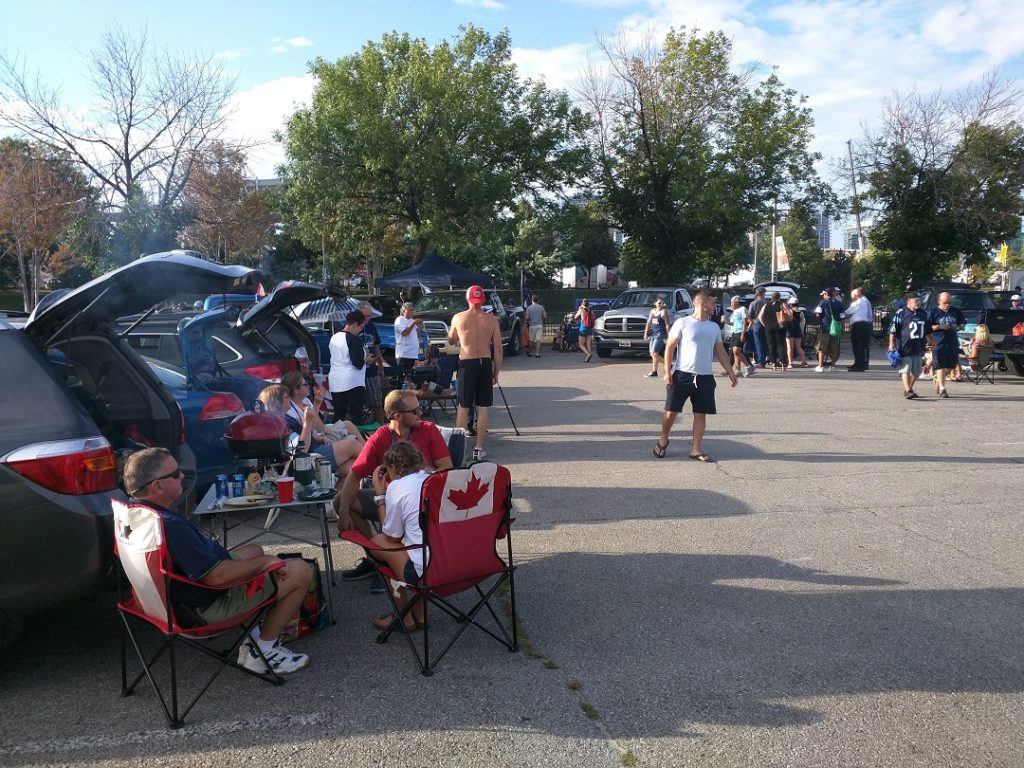The same parking lot this year for the Bombers @ Argos game.